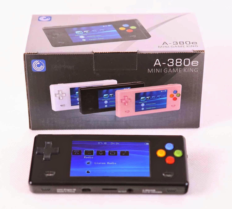 Black Dingoo A380E Handheld Emulator game console