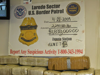 Drugs seized along the border.