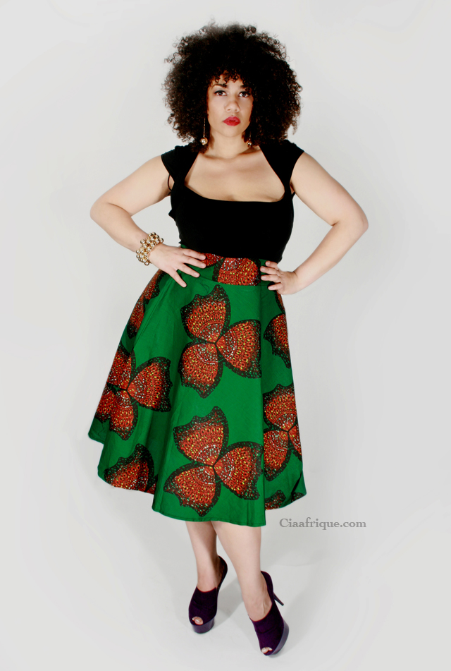 plus size African print skirt by DearCurve