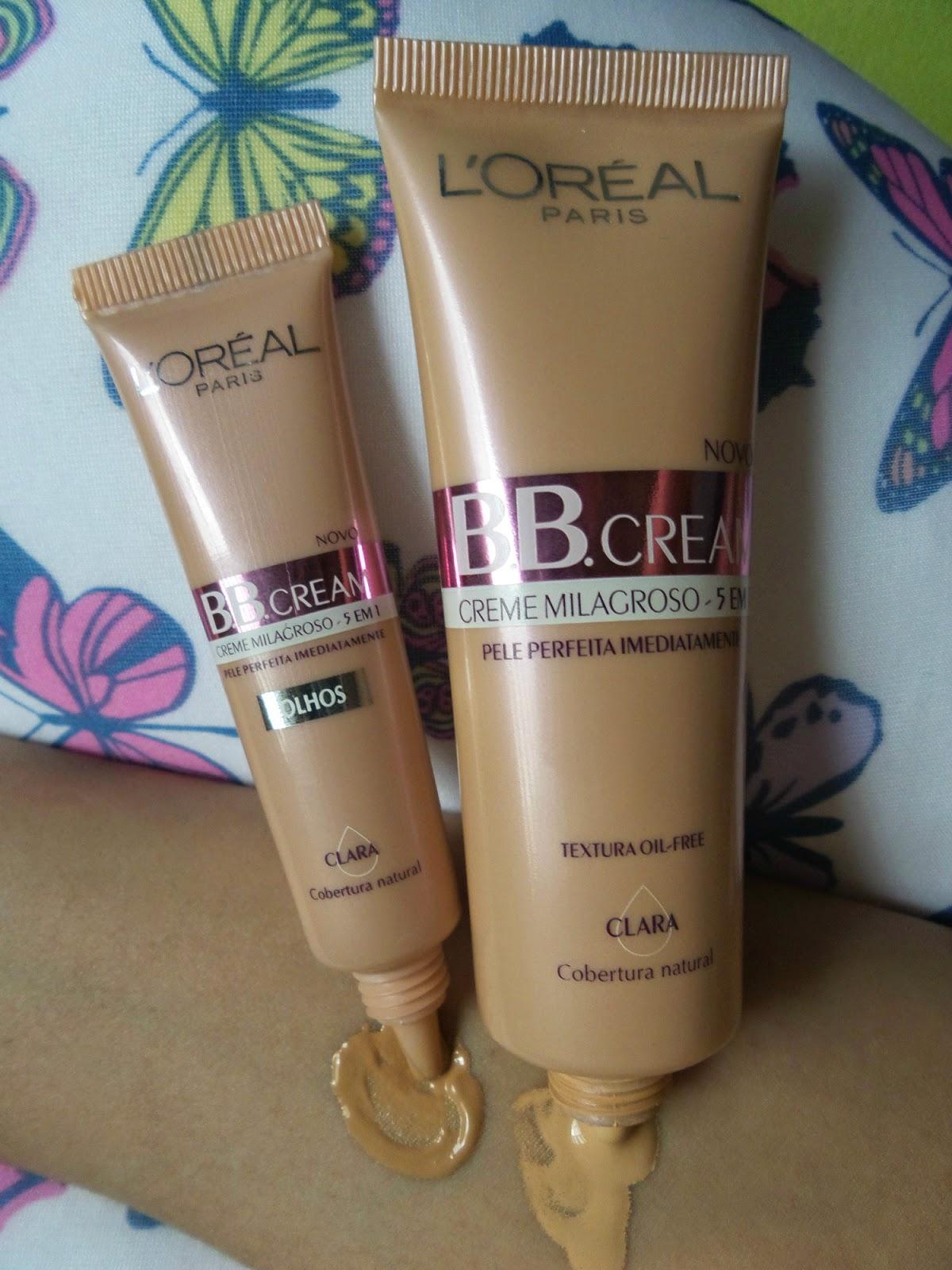 BB Cream  Olhos,  BB cream rosto Loreal Paris FPS 20