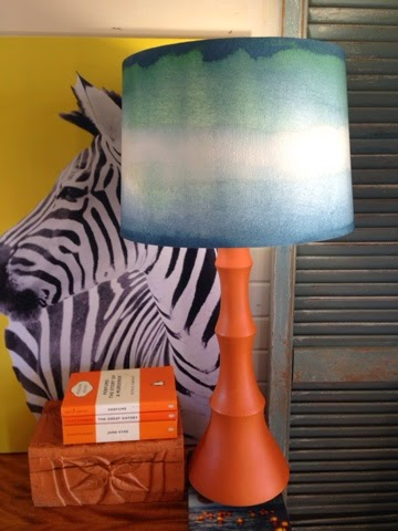 Drip designs furniture updating a lamp shade with chalk for Lamp shade painting ideas
