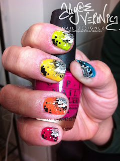 nails nail art nailart nail polish Algae Veronica Veronica's Obsession Spellbound Feature Friday Graffiti