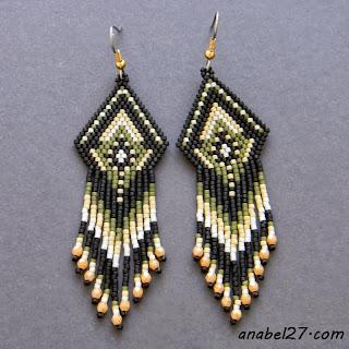 Серьги из бисера в этническом стиле - 175 / 365