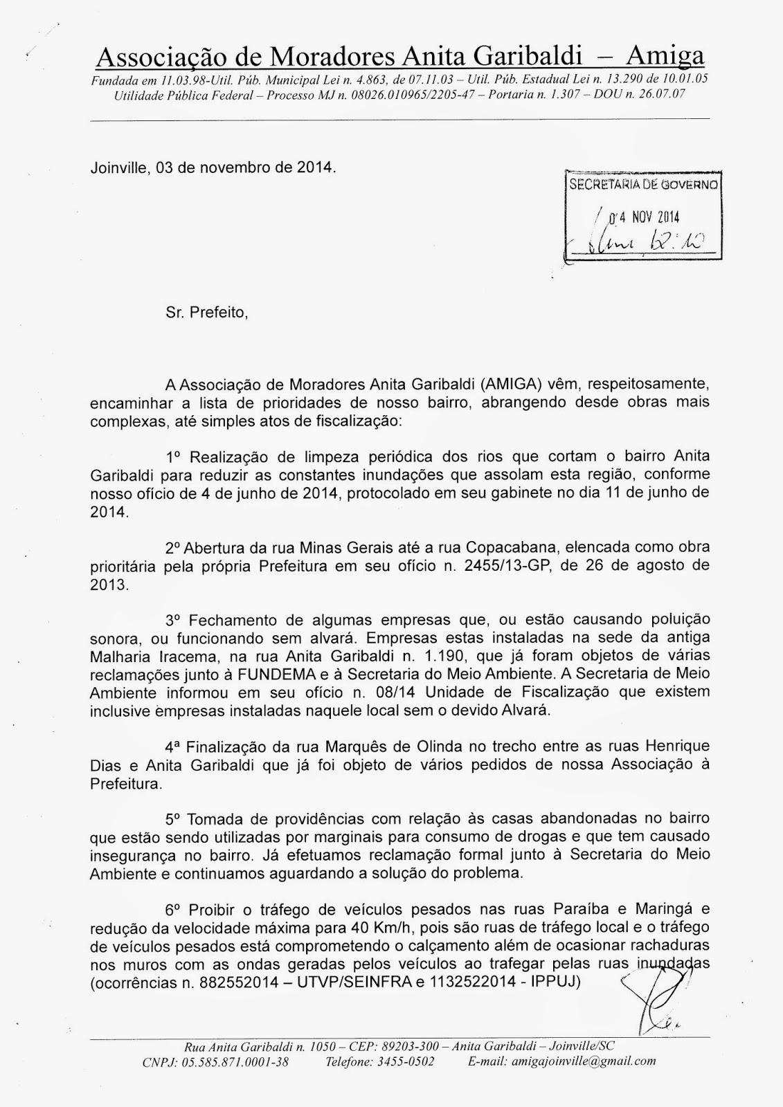 Amiga Associa O De Moradores Anita Garibaldi 2014