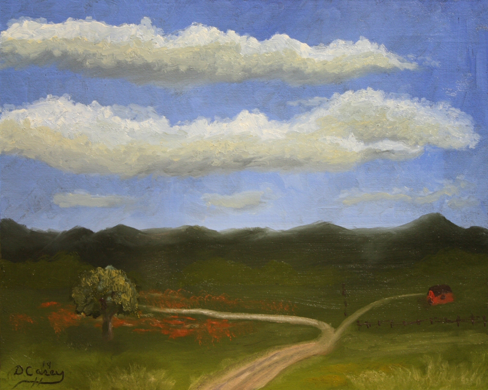 140815 - Landscape - One Tree One Barn 001a 8x10 oil on linen panel - Dave Casey - TheDailyPainter.jpg