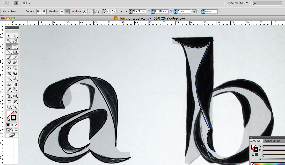 how to make sure a shape is even illustrator
