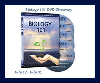 Enter the Biology 101 DVD Giveaway. Ends 7/31.