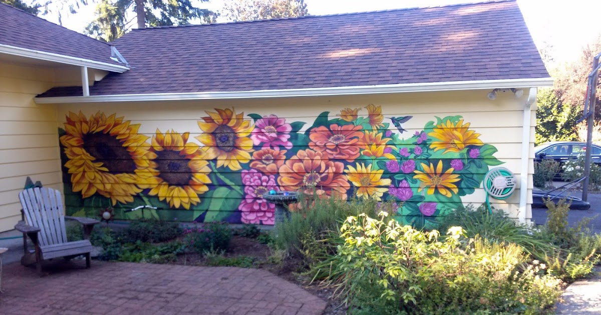 The talking walls a garden for winter Mural of flowers