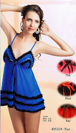 8204 : BLUE only, Free Size (Size Fits Most S, M & L) with G-String