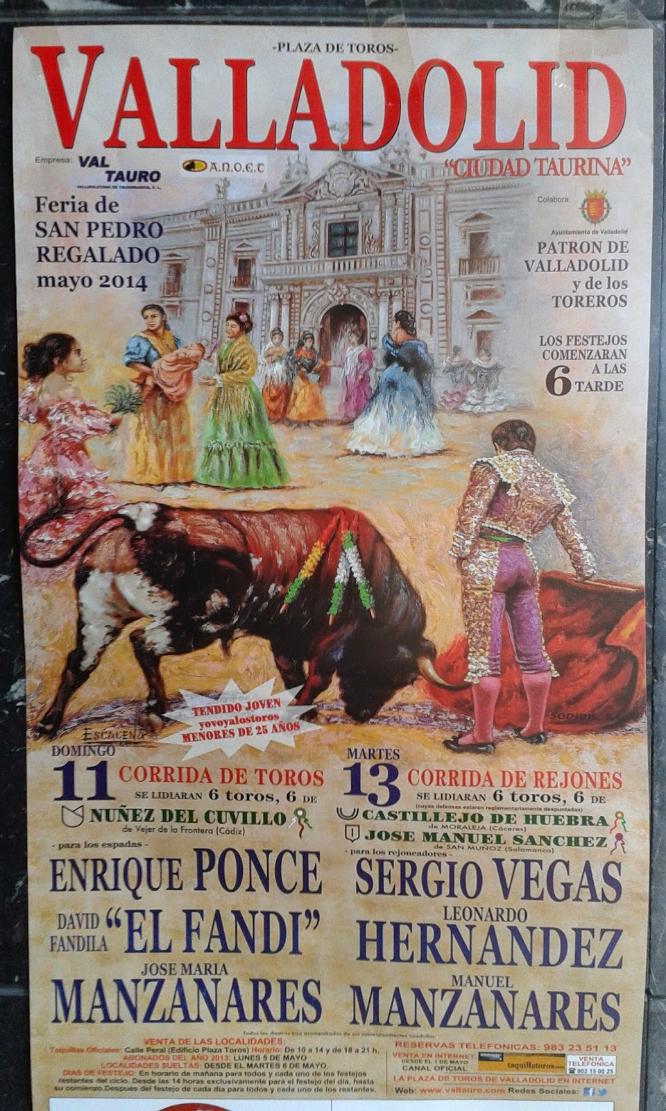 Toros en Valladolid cpor San Pedro Regalado
