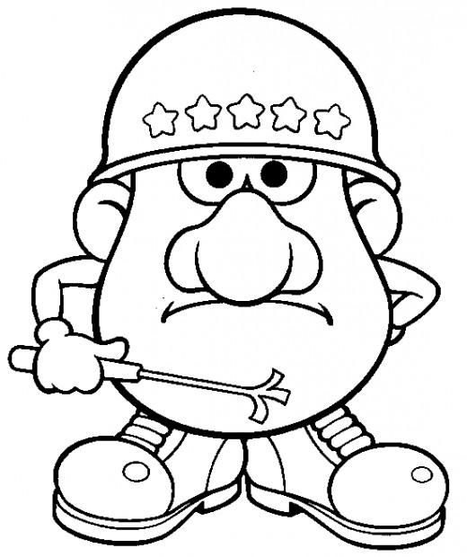 Fun Coloring Pages Mr Potato Head Coloring Pages Mrs Potato Coloring Pages