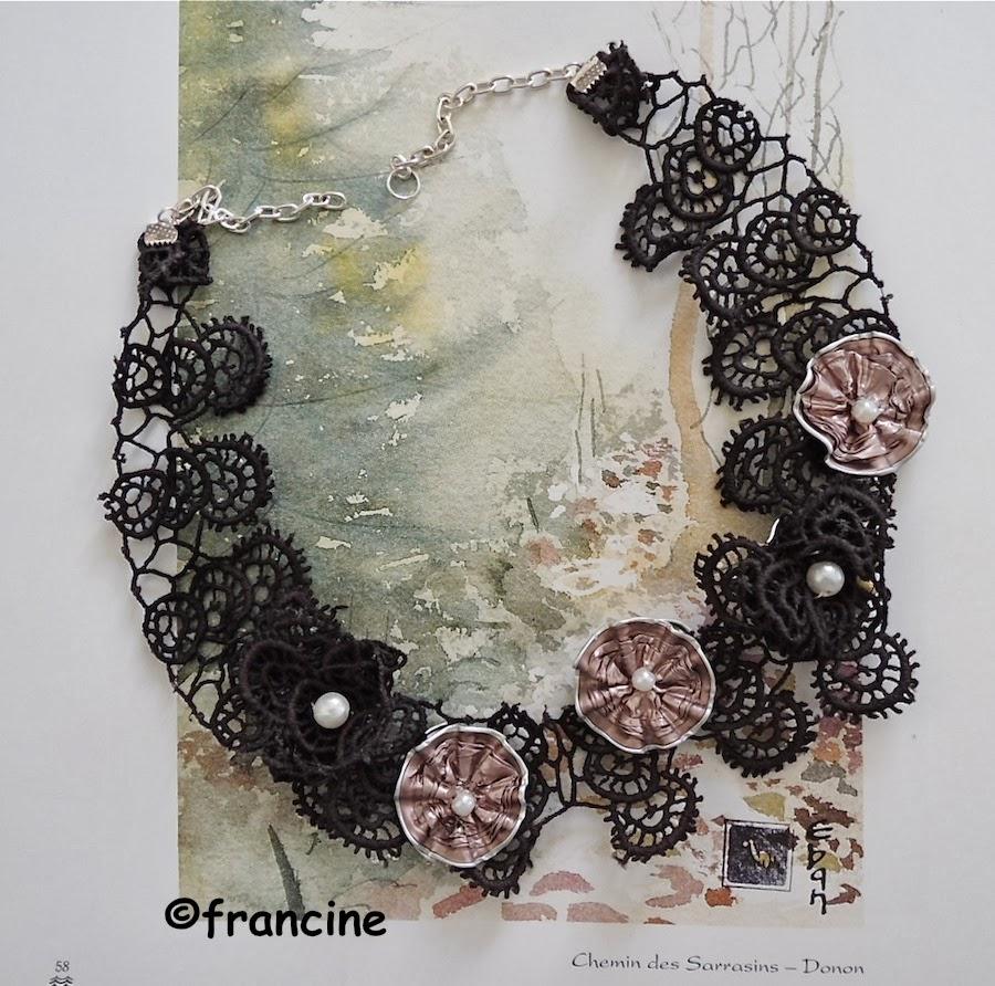 francine bricole collier col en dentelle et capsules nespresso roses. Black Bedroom Furniture Sets. Home Design Ideas