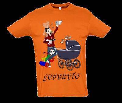 """Camiseta manga corta para hombre """"SuperTío"""" color naranja"""