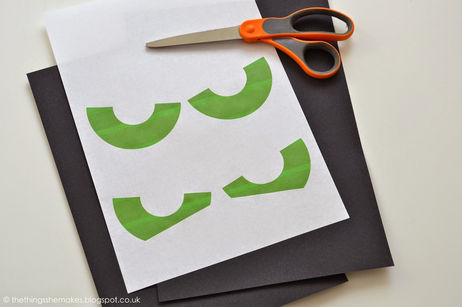 Using The Eyes Template, Draw Around The Outlines On To Black Card And Cut  Out The Shapes With