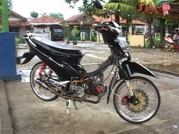 modifikasi motor supra x 125 ban kecil