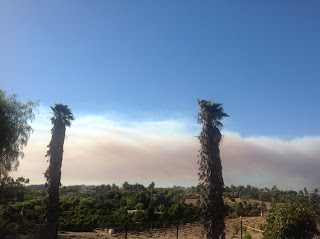 Camp Pendleton Fire nearby