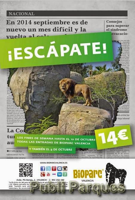 Escápate Bioparc Valencia 2014