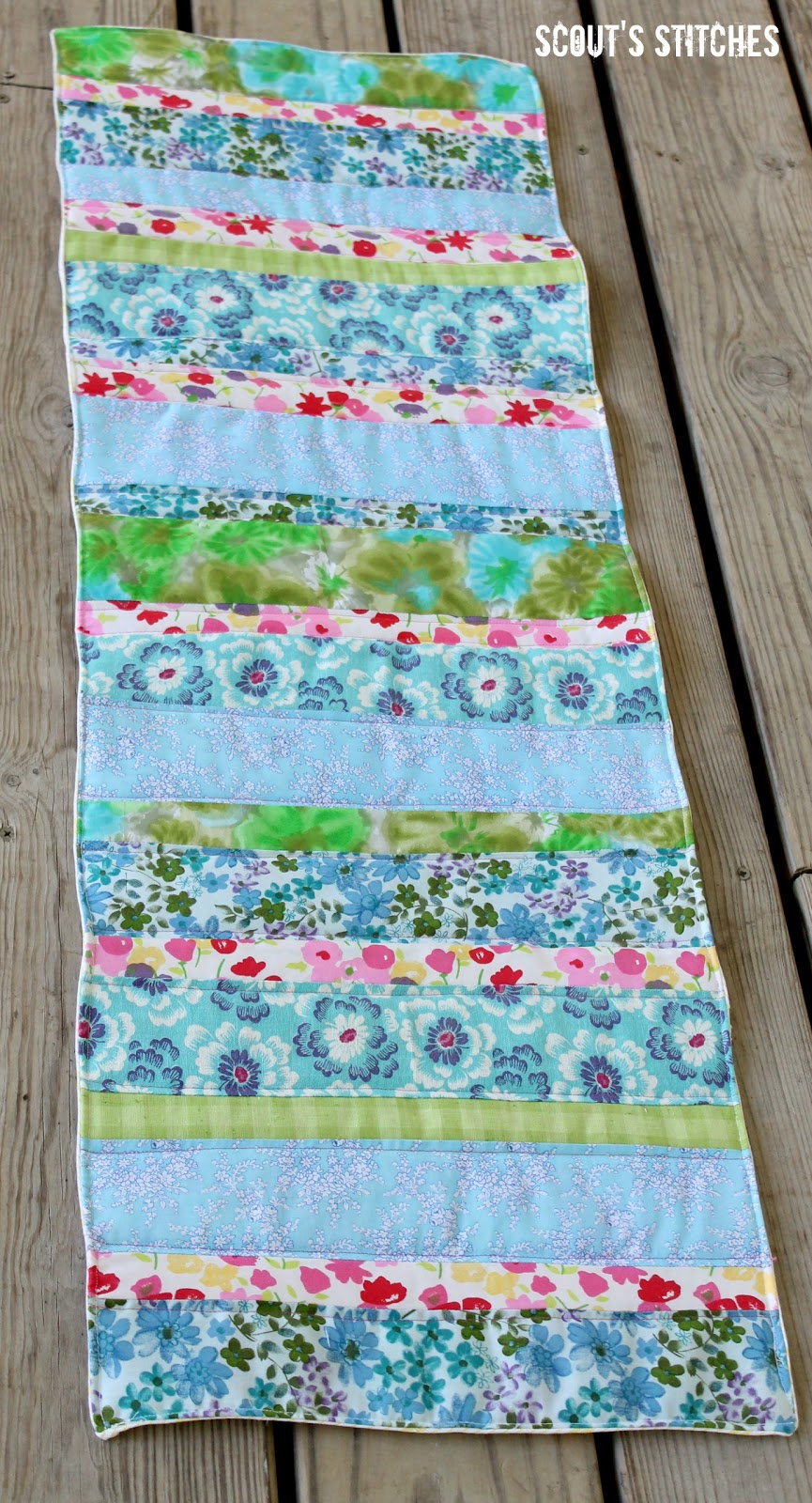 This Spring I Decided To Make A Table Runner. I Wanted It To Be Bright And  Cheery So That It Would Make Me Happy Every Time I Saw It.