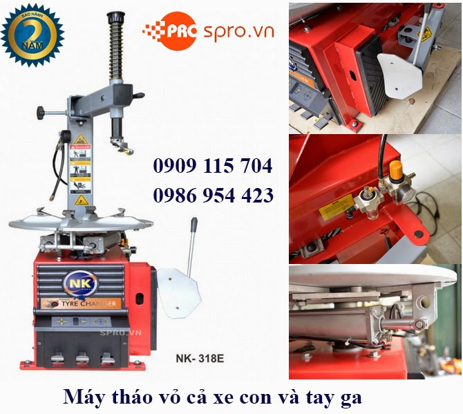 Máy tháo vỏ NK318E dùng cho xe tay ga, xe ô tô và xe tải nhỏ