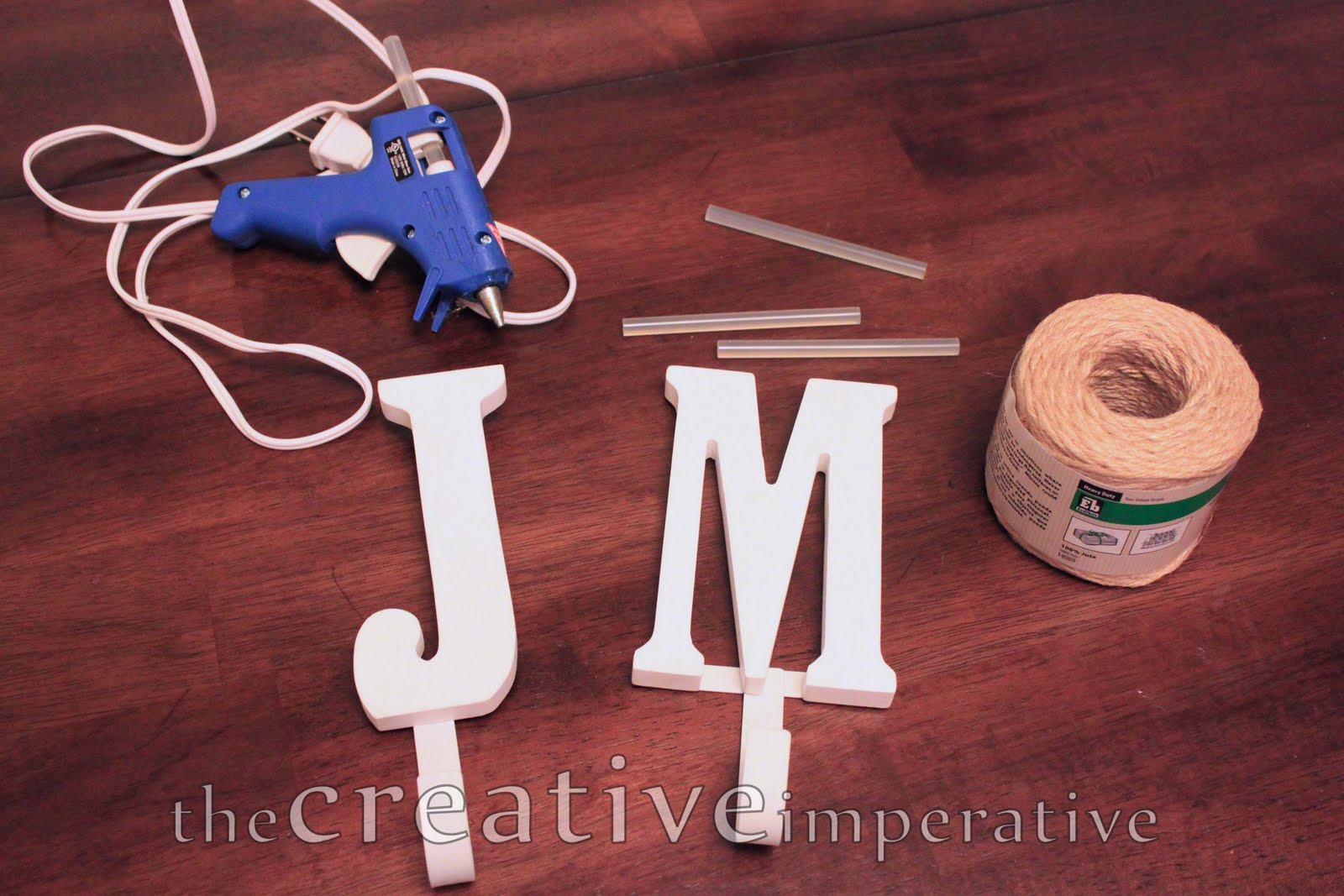 wooden letters with hook