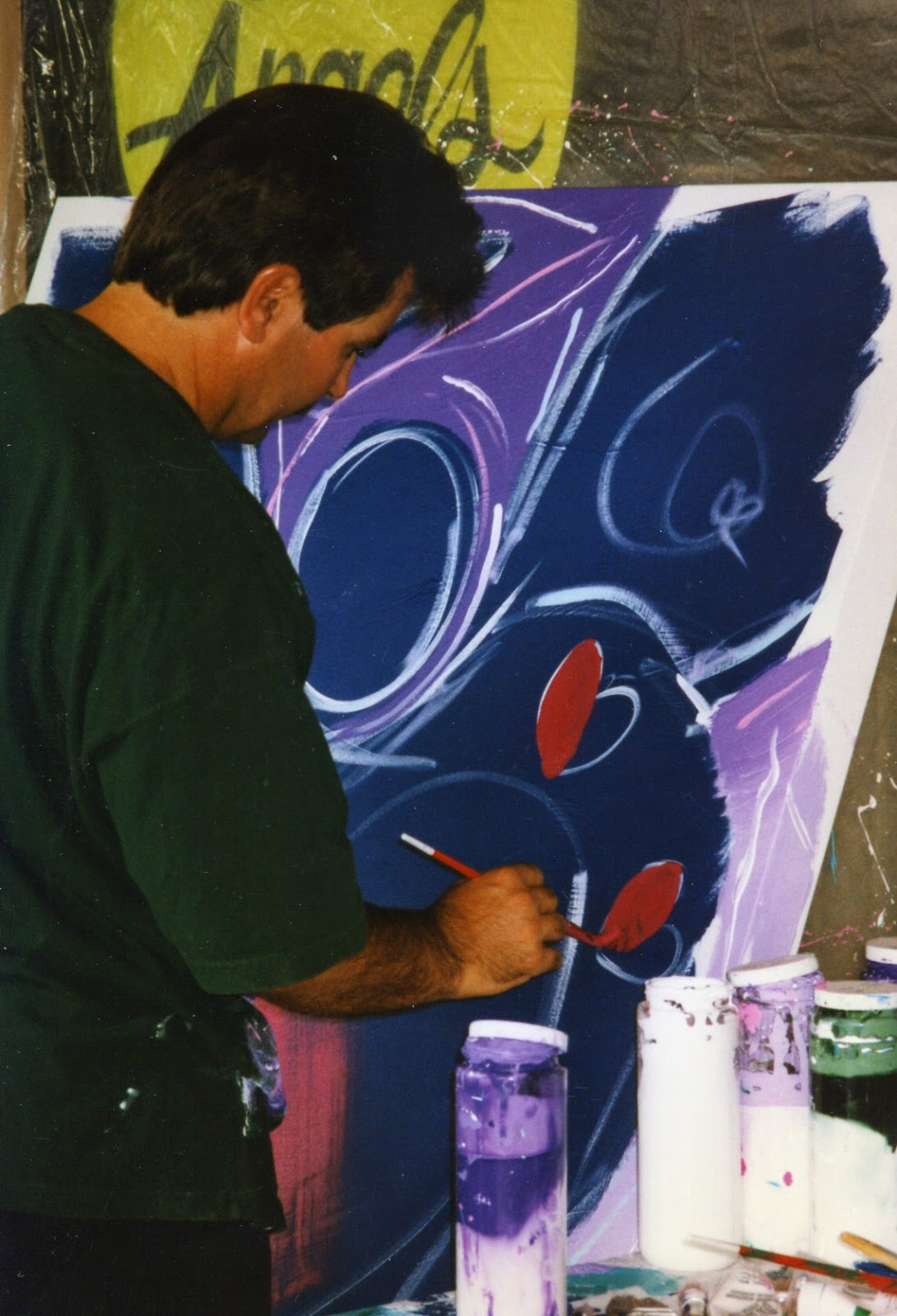 Looking At My Photos And Saw Ones I Had Taken Of Andy Lakey, The Angel  Artist, Doing A Painting In 19951996 In Sedona, Az At The Angel Treasures  Store