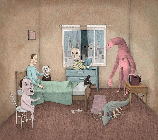 Ilustración, Mala noche de Juan Hoyos aka Alefes Silva