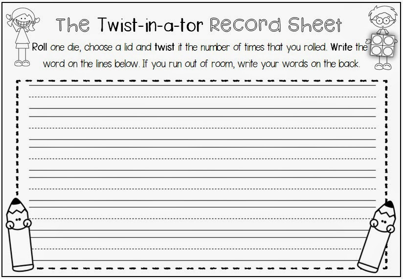 The Twist-in-a-tor and more Printables for any Word List Clever Classroom