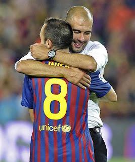 Guardiola esta contento con el regreso de Iniesta