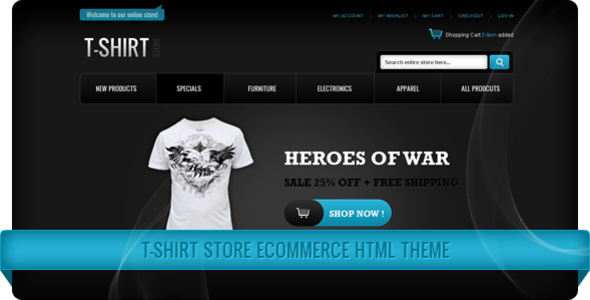 t shirt store ecommerce html themes themeforest ForT Shirt Ecommerce Website