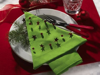 Folding napkins is eco friendly and fun - Holiday Ideas