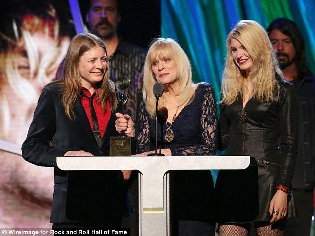 Nirvana Kurt Cobain Wendy O'Connor Kim Cobain Rock & Roll Hall of Fame Dave Grohl Krist Novoselic