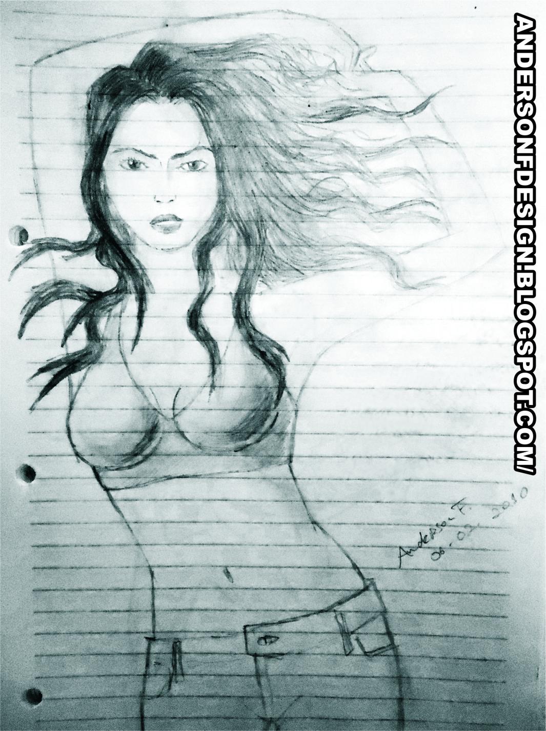 Arte grafite desenhado manualmente usando lápis 6b