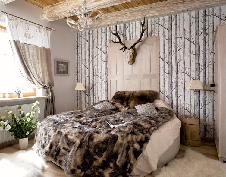 Blog wn trzarski design nowoczesne projekty wn trz for Hunting cabin decorating ideas