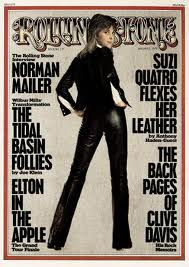 Suzi Quatro on the cover of Rolling Stone