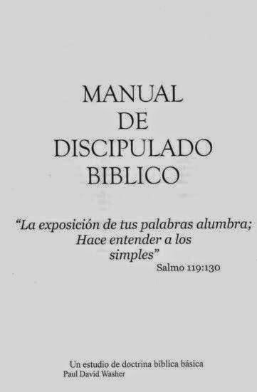 Paul Washer-Manual De Discipulado Bíblico-