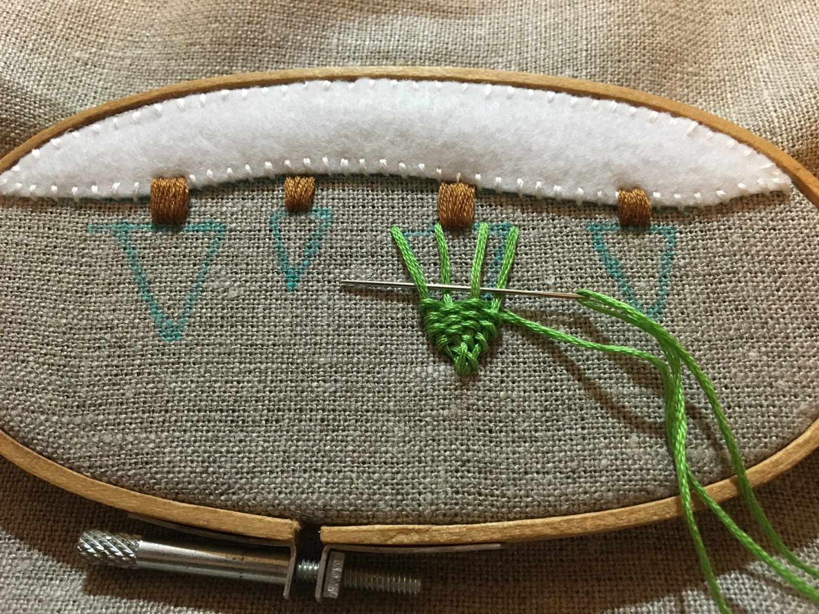 woven trellis stitch