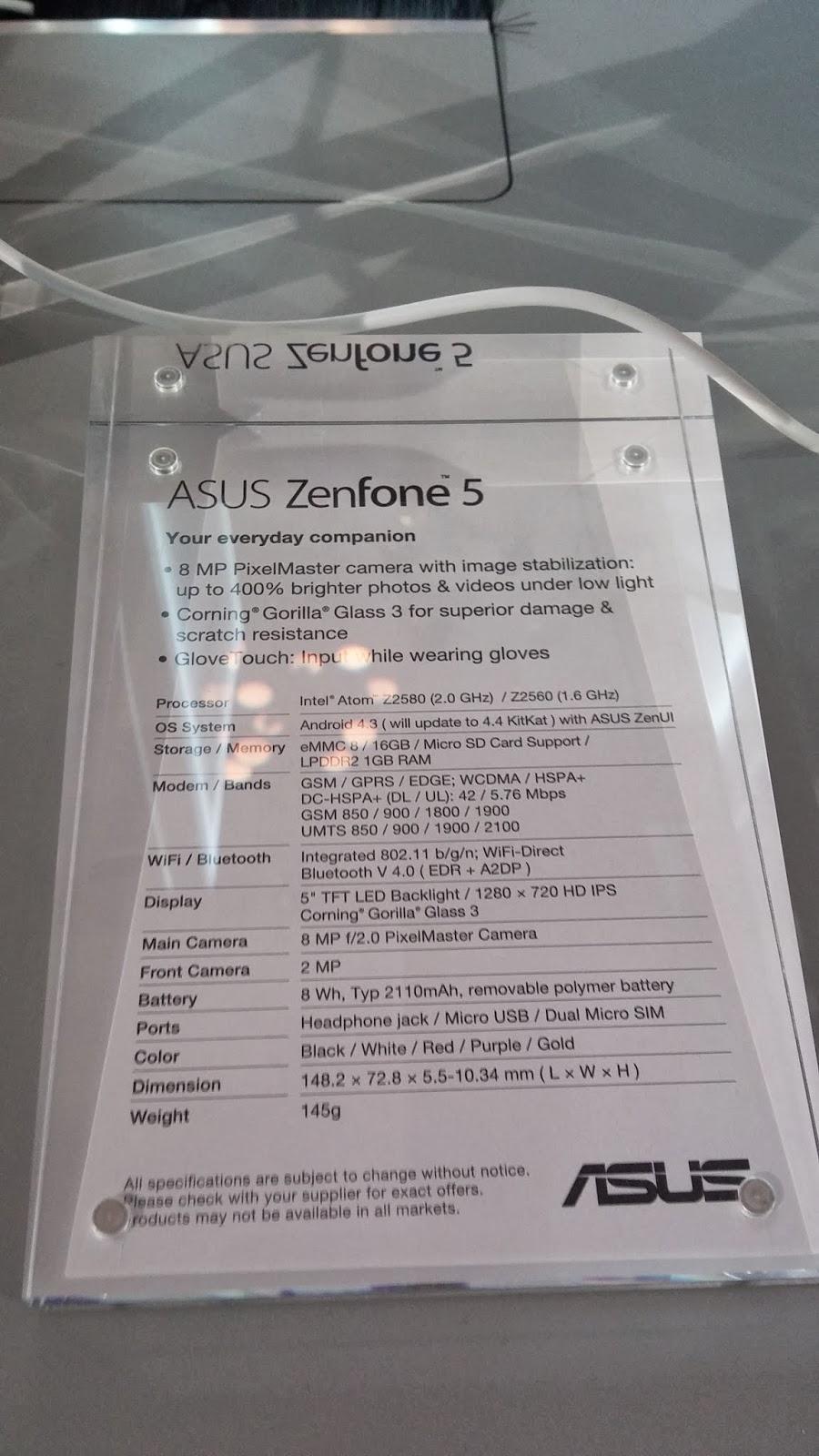 "Smartphone de Asus de 5"""