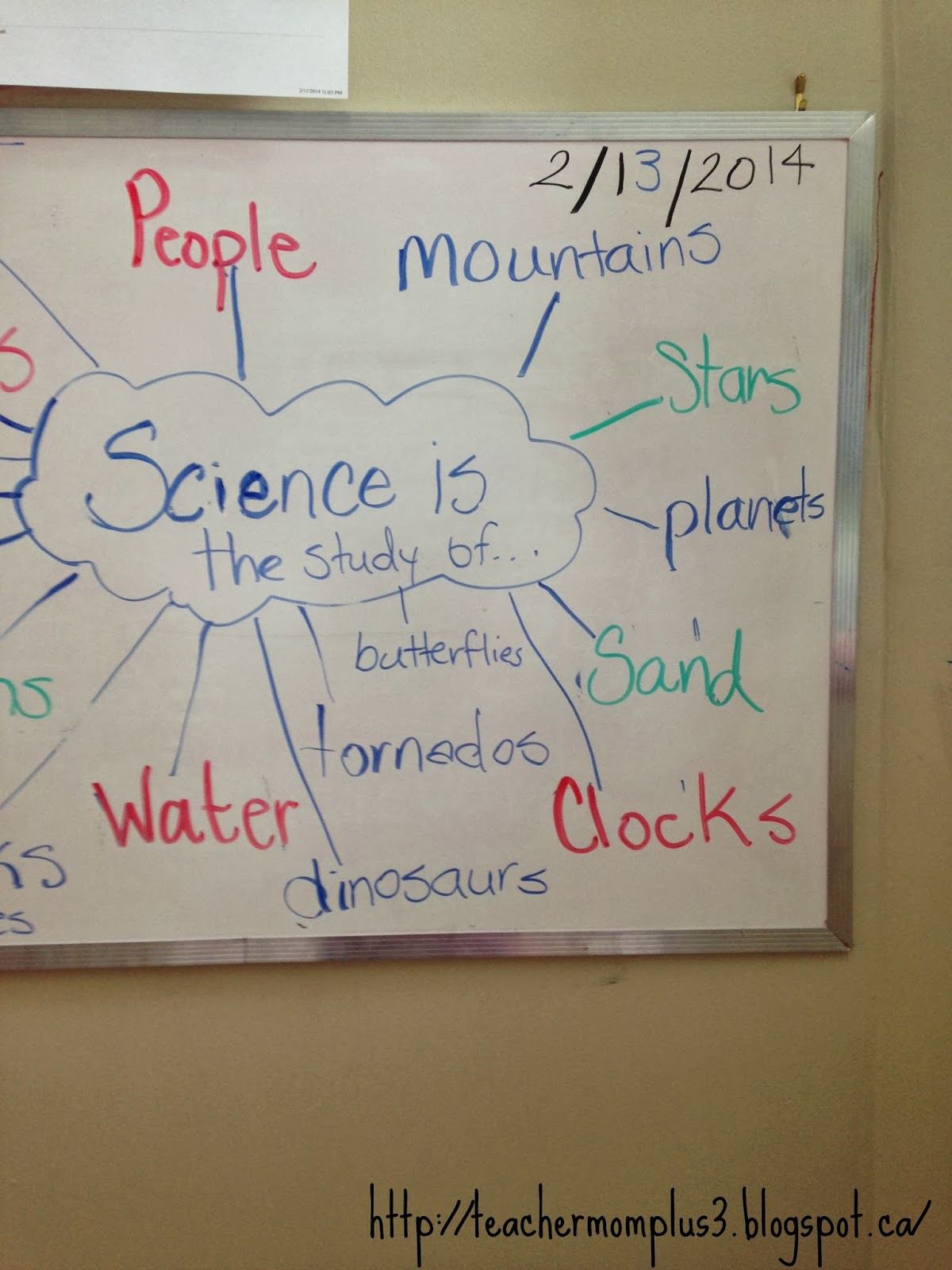 After reading the book i asked the boys what is science i wrote down all their answers on the white board even a was able to participate and give some