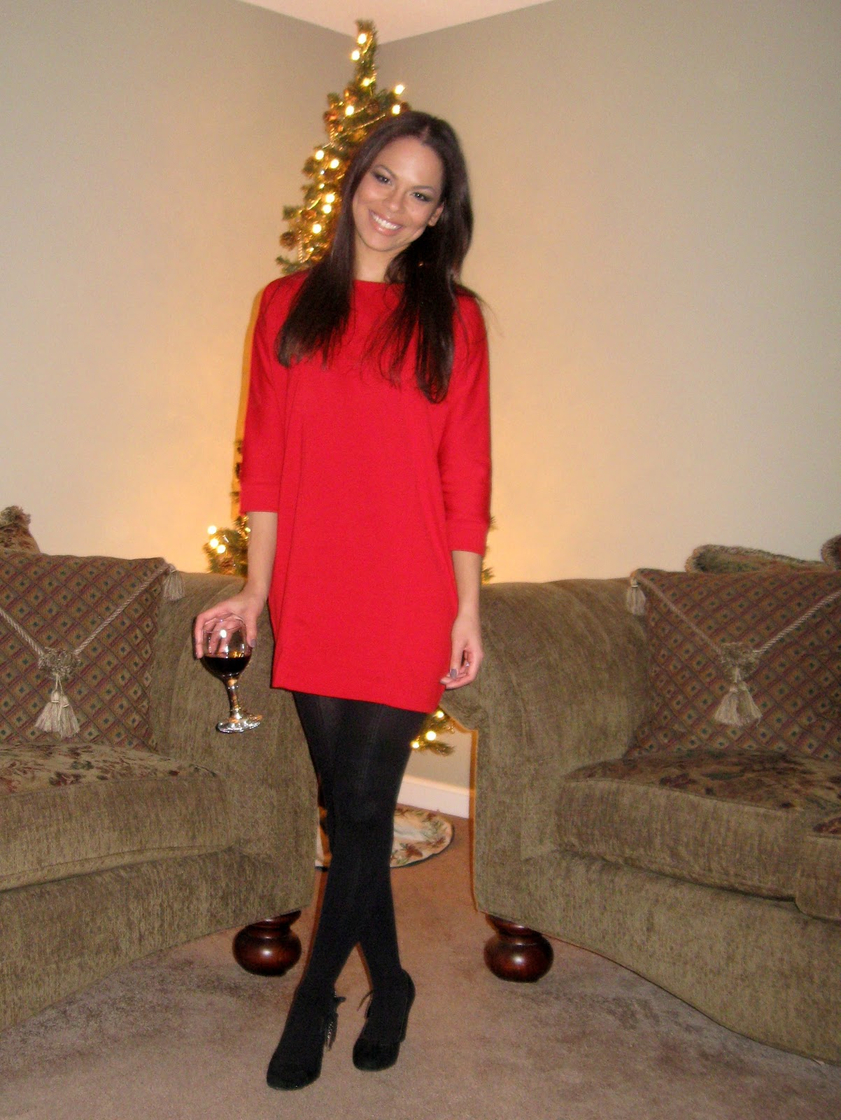 Red dress i hope all of you that celebrate the holidays got to spend