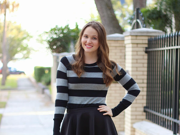 Stripes and a Skater Skirt