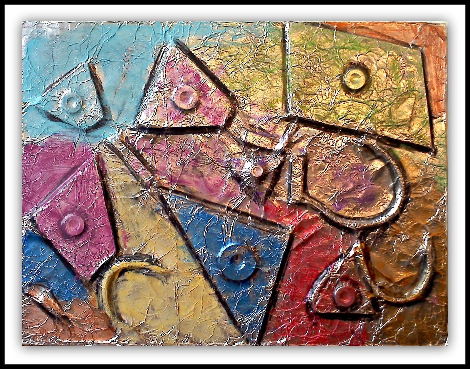 plateau art studio  foil abstract art