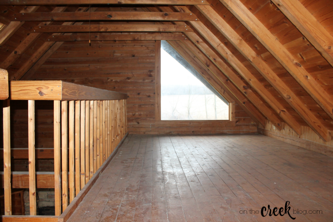 cabin loft before renovation