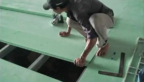 thi công tấm ván nhựa chịu lực làm sàn nhẹ