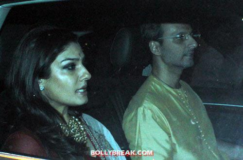 Raveena Tandon and Anil Thadani - (22) - Amitabh Bachchan Diwali Bash Photos