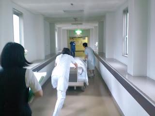 写真:二つ目の渡り廊下を進む。