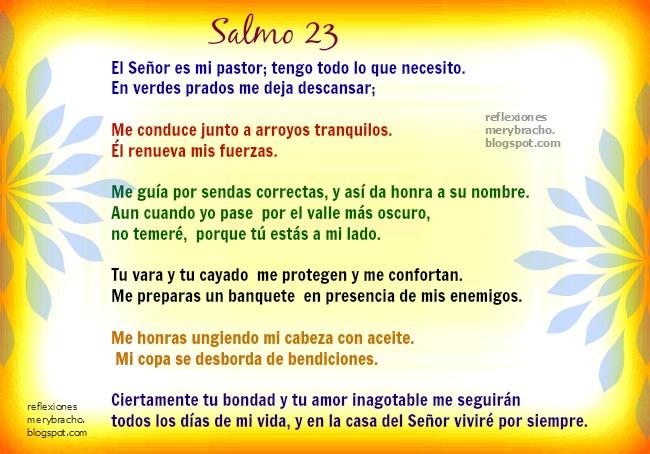 Aunque tengas Problemas Dios no te faltará.Salmo 23. Imágenes cristianas, Reflexiones cristianas cortas para amiga, amigo en problemas. ayuda en dificultades, problemas. Postales cristianas.