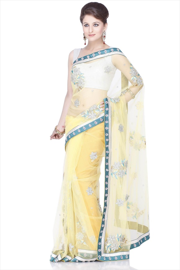 net saree designs