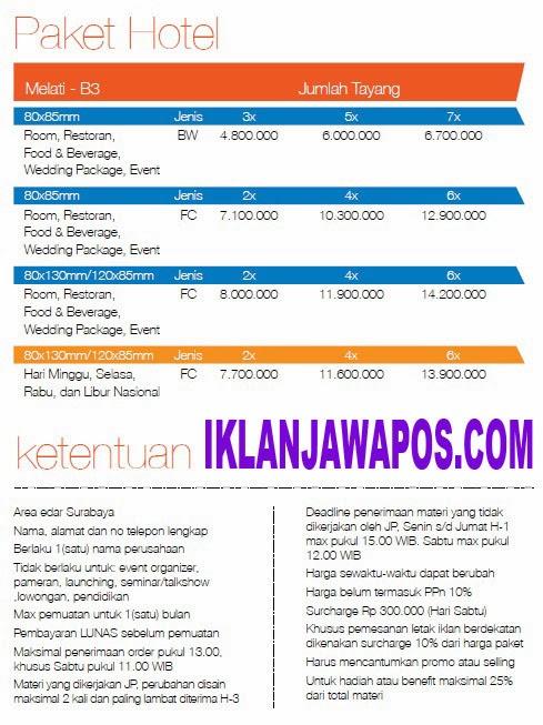 Jawa Pos Iklan Paket Hotel 2014