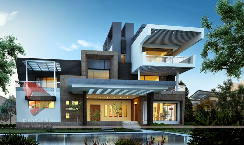 Ultra Modern Home Designs | Home Designs: House 3D Interior Exterior ...