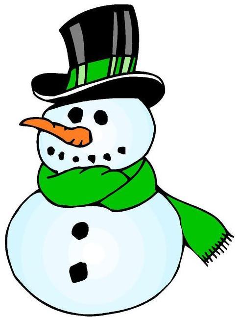Dibujo de un muñeco de nieve